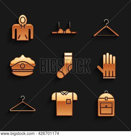 Set Socks, Polo Shirt, Backpack, Leather Glove, Hanger Wardrobe, Police Cap With Cockade, And Hoodie