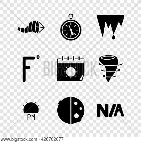Set Cone Meteorology Windsock Wind Vane, Compass, Icicle, Sunset, Eclipse Of The Sun, Not Applicable