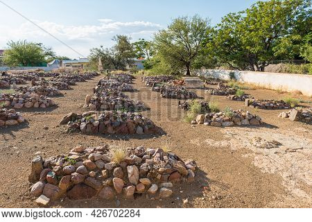 Graves At The Historic Cemetery Of The Dutch Reformed Church In Prince Albert In The Western Cape Pr