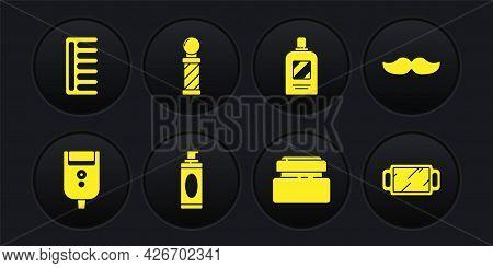 Set Electric Razor Blade For Men, Mustache, Shaving Gel Foam, Cream Lotion Cosmetic Tube, Bottle Of