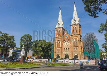 Architecture, Asia, Asian, Attraction, Basilica, Blue, Building, Cathedral, Catholic, Catholicism, C