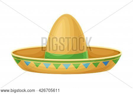 Sombrero Hat As Party Birthday Photo Booth Prop Vector Illustration