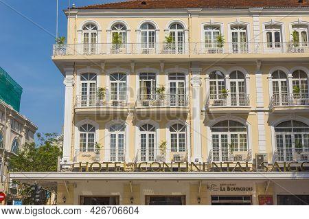Ho Chi Minh, Vietnam - Oct 18, 2019 : The Continental Hotel In Ho Chi Minh City, Vietnam On Oct 18,