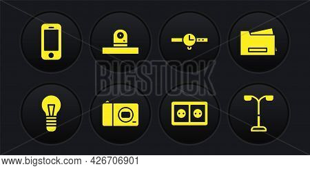 Set Light Bulb, Printer, Photo Camera, Electrical Outlet, Wrist Watch, Security, Street Light And Sm