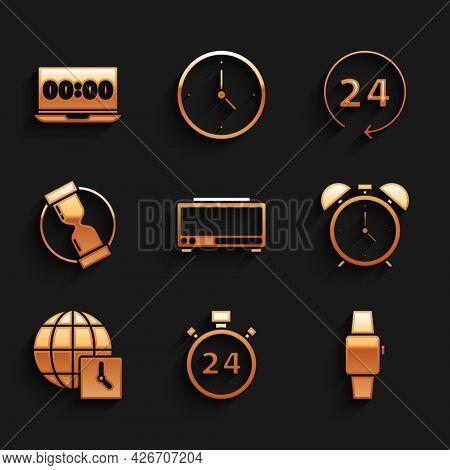 Set Digital Alarm Clock, Stopwatch 24 Hours, Smartwatch, Alarm, World Time, Old Hourglass, Clock And
