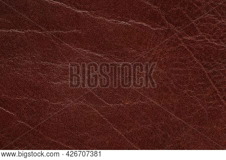 Texture Of Brown Leather Background
