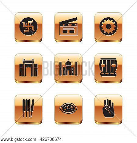 Set Hindu Swastika, Aroma Sticks, Incense, Kheer Bowl, Taj Mahal, India Gate Delhi, Chakra, Indian S