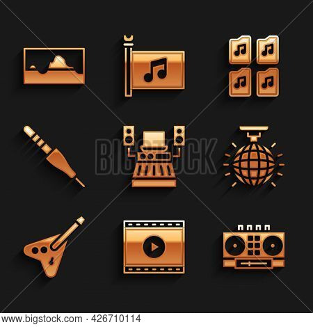 Set Music Recording Studio, Online Play Video, Dj Remote And Mixing Music, Disco Ball, Electric Bass