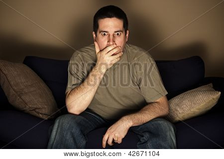 Man Shocked By What He Sees On The Television