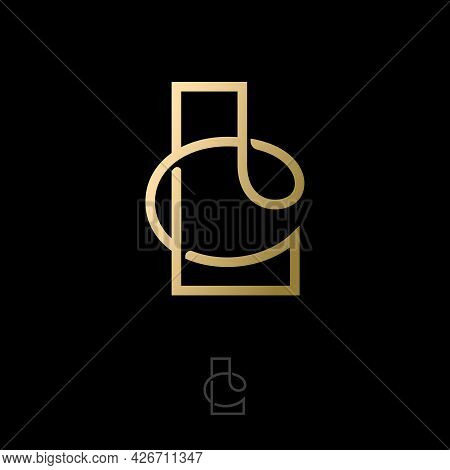 L And C Letters. L, C Gold Monogram. Luxury Logo Can Be Use For Business, Jewelry Shop, Clothes, Web