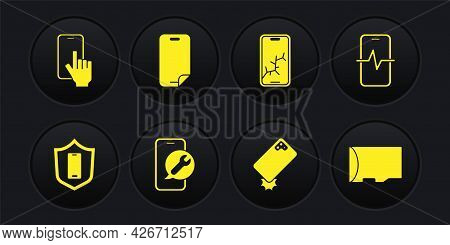 Set Mobile With Shield, Phone Repair Service, Shockproof Phone, Broken Screen, Glass Protector, Micr