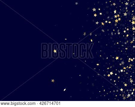 Gold Falling Star Sparkle Elements Of Glitter Gradient Vector Background.
