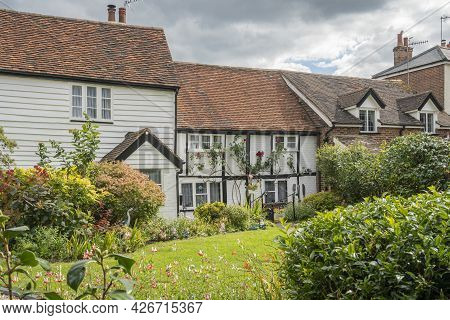 English Cottage And Garden In Surrey, Uk