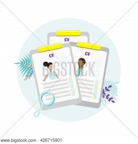 Concept Of Professional Staff Recruitment, Job Application, Hiring Personnel, Selection Of Candidate