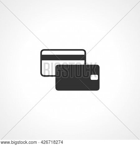 Credit Card Icon. Credit Card Isolated Simple Vector Icon