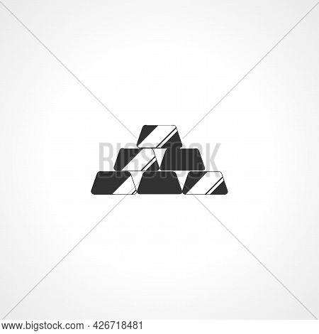 Gold Ingots Icon. Gold Ingots Isolated Simple Vector Icon