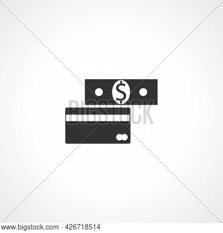 Dollar And Credit Card Icon. Dollar And Credit Card Isolated Simple Vector Icon