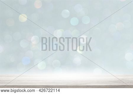 Bright blue bokeh patterned background