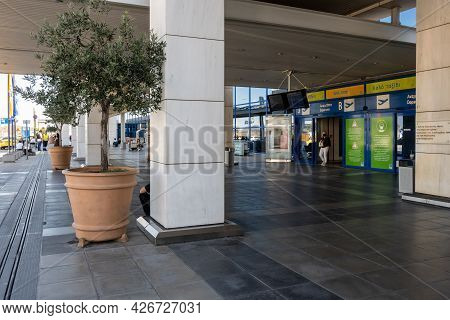 Athens, Greece - October 1, 2020: Building Of The Athens International Airport, Greece.