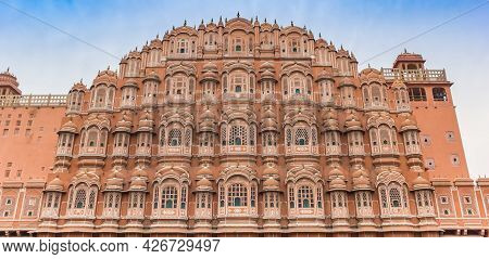 Panorama Of The Palace Of The Winds In Jaipur, India