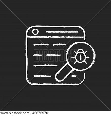 Web Bug Chalk White Icon On Dark Background. Web Beacon. Gathering, Tracking Webpage Information. St