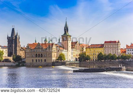 Prague, Czech Republic - September 13, 2020: Bedrich Smetana Museum At The River Moldau (vltava) In
