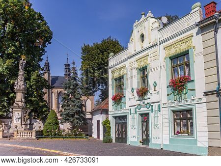 Historic House In Front Of The Sedlec Ossuary Church In Kutna Hora, Czech Republic
