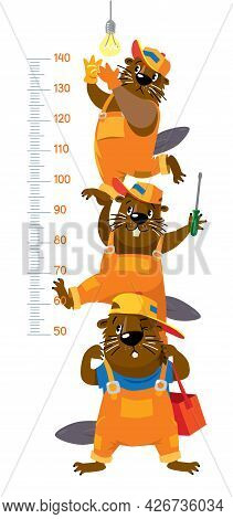 Funny Beavers Meter Wall Or Height Chart