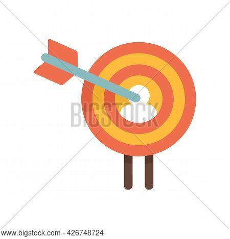 Buyer Target Icon. Flat Illustration Of Buyer Target Vector Icon Isolated On White Background