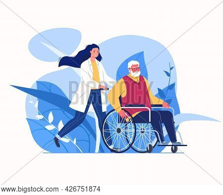 Help For Elderly. Organization For Care Of Disabled. Compassionate And Competent Solicitude. Daily N