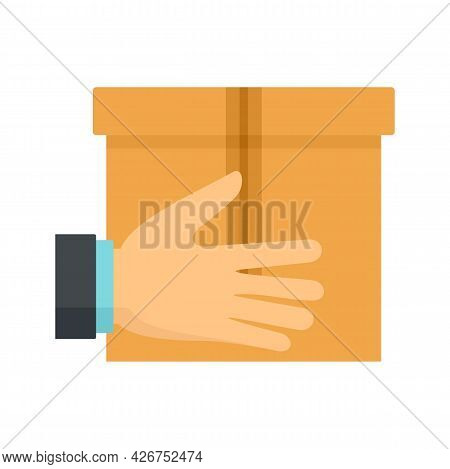 Parcel Delivery Icon. Flat Illustration Of Parcel Delivery Vector Icon Isolated On White Background