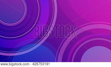 Modern Background Blue Pink Minimal Geometric Background Dynamic Shapes