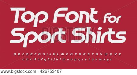 Sport Font Alphabet Sport Shirts Letters. Italic Round Typographic Design. Sans Serif Fashion Letter