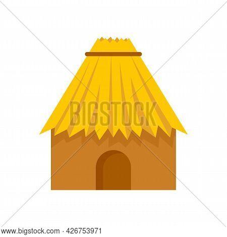 Peru House Icon. Flat Illustration Of Peru House Vector Icon Isolated On White Background