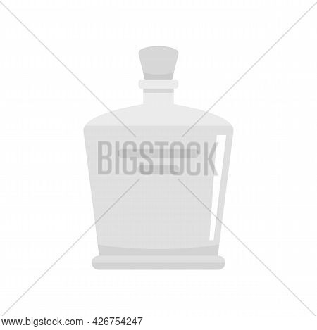 Tequila Bottle Icon. Flat Illustration Of Tequila Bottle Vector Icon Isolated On White Background
