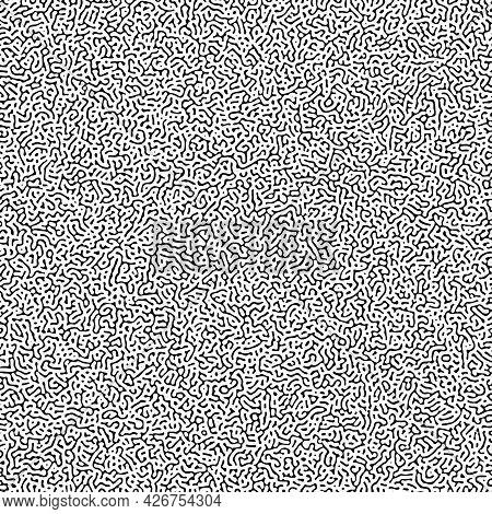 Cyclic Symmetric Multiscale Turing Pattern. Monochrome Texture