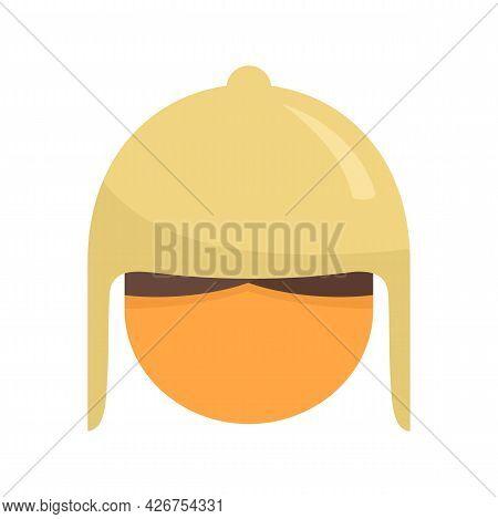 Peru Man Head Icon. Flat Illustration Of Peru Man Head Vector Icon Isolated On White Background