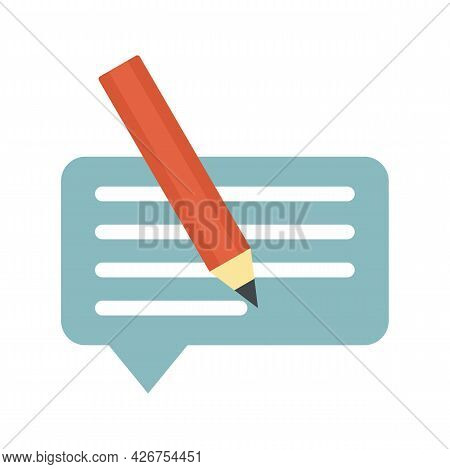 Customer Review Icon. Flat Illustration Of Customer Review Vector Icon Isolated On White Background