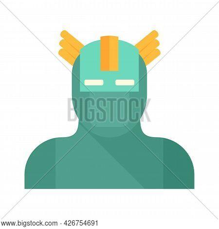 Superhero Face Icon. Flat Illustration Of Superhero Face Vector Icon Isolated On White Background