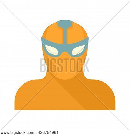 Power Superhero Icon. Flat Illustration Of Power Superhero Vector Icon Isolated On White Background