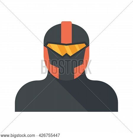 Iron Superhero Icon. Flat Illustration Of Iron Superhero Vector Icon Isolated On White Background