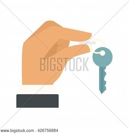 Lease House Keys Icon. Flat Illustration Of Lease House Keys Vector Icon Isolated On White Backgroun