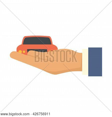 Car Leasing Icon. Flat Illustration Of Car Leasing Vector Icon Isolated On White Background