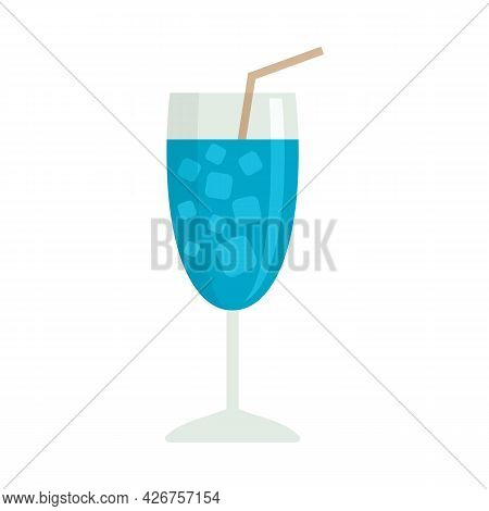 Marine Cocktail Icon. Flat Illustration Of Marine Cocktail Vector Icon Isolated On White Background