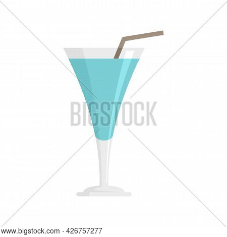 Cocktail Drink Icon. Flat Illustration Of Cocktail Drink Vector Icon Isolated On White Background