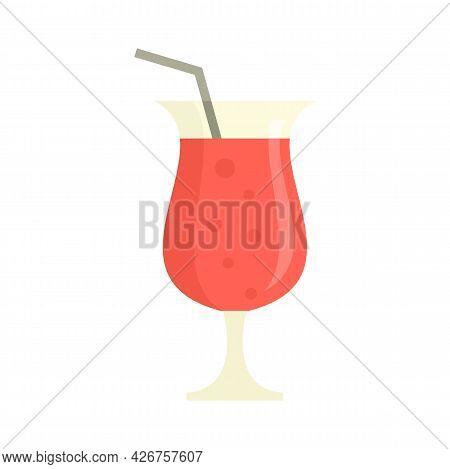 Refreshment Cocktail Icon. Flat Illustration Of Refreshment Cocktail Vector Icon Isolated On White B