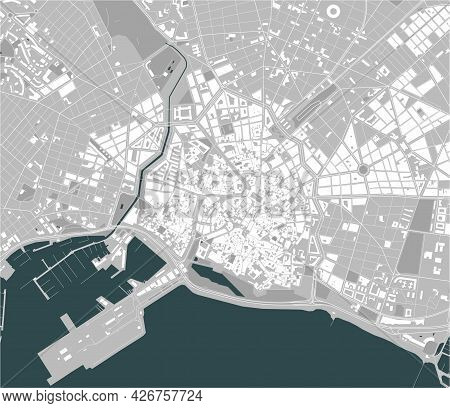 Map Of The City Of Palma, Spain
