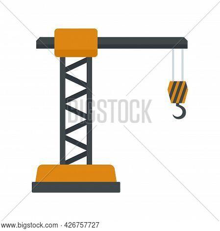 Crane Icon. Flat Illustration Of Crane Vector Icon Isolated On White Background