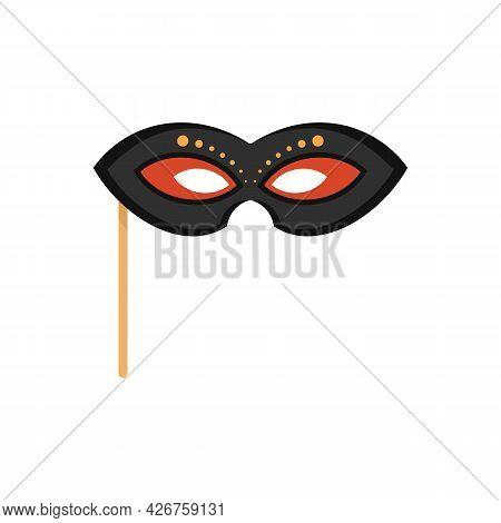 Masquerade Mask Icon. Flat Illustration Of Masquerade Mask Vector Icon Isolated On White Background