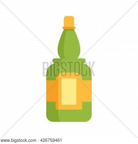 Bottle Of Tequila Icon. Flat Illustration Of Bottle Of Tequila Vector Icon Isolated On White Backgro